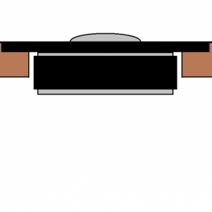 Cross section of cabinet idea.  The shallow inner bevel would follow the cylindrical cutout for tweeter.  The radiused outer edge would follow the edg